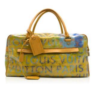 Louis Vuitton Richard Prince Jaune Denim Defile Weekender PM Pulp Bag