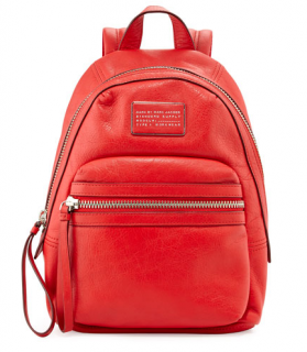 Marc by Marc Jacobs Red Leather Third Rail Backpack