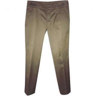 Gucci Khaki Gabardine pants