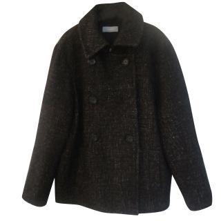 Nicole Fahri Tweed Pea Coat