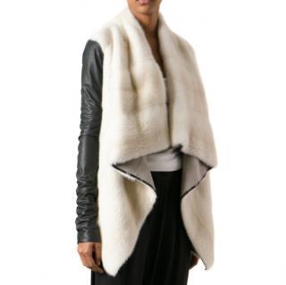 Rick Owens Hun Collection Mink Fur Jacket
