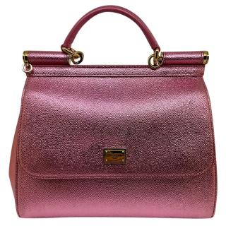 Dolce & Gabbana Pink Metallic Sicily Bag