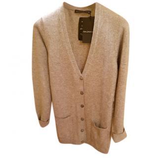 new   Balenciaga Knits Grey Cashmere Cardigan