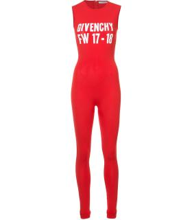Givenchy red intarsia jumpsuit