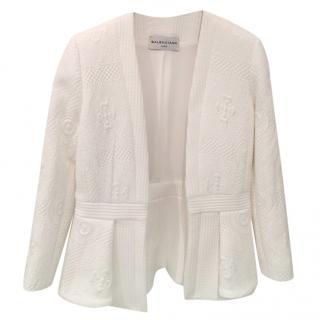 Balenciaga Peplum style Crepe Blazer