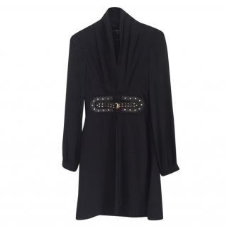 Gucci Black Dress with Python Skin Belt