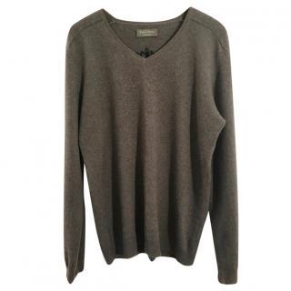 Zadig & Volatire Peter Bis 100% cashmere grey v neck sweater