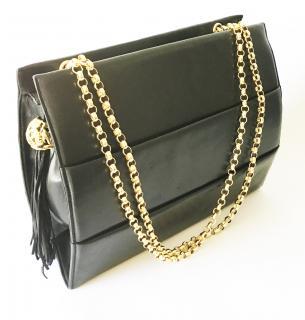 Salvatore Ferragamo vintage black leather bag