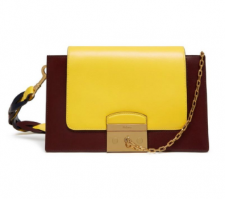 Mulberry Pembroke Colour-Block Leather Shoulder Bag