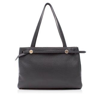 Hermes Fjord Leather Vert Gris Cabana Tote Bag