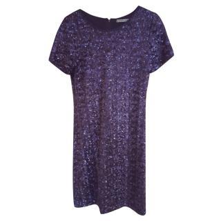 Velvet Blue Sequin Dress