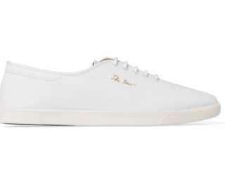The Row Dean embroidered canvas sneakers