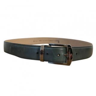 Moreschi Prince teal coloured leather belt