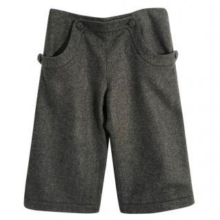 Marni Tweed Grey Wool Cropped Trousers