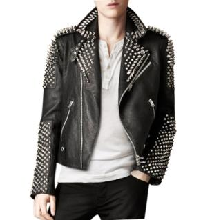 Burberry Brit Studded Leather Biker Jacket