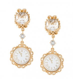 Dolce & Gabbana crystal clock earrings
