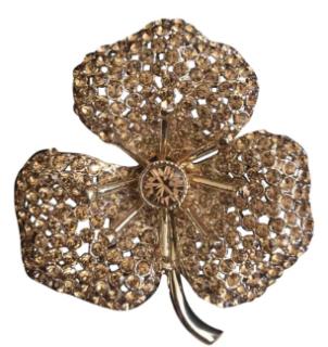 Sonia Rykiel Gold Flower Brooch