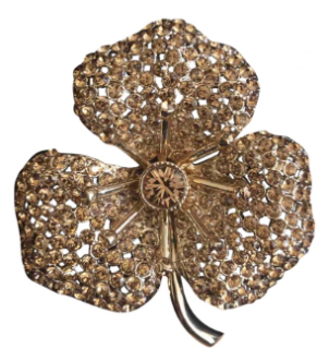 Sonia Rykiel Gold Flower Brooch