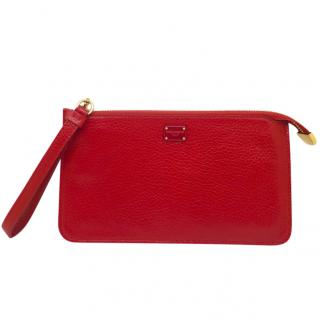 Dolce & Gabbana red clutch purse
