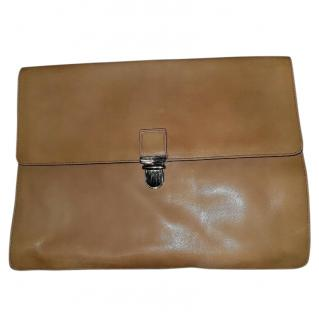 Cole Haan Mens Smooth Veg Leather Tan Large Portfolio Bag