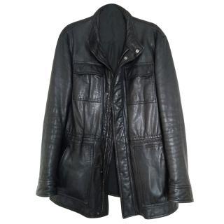 Zegna Men's Leather Coat