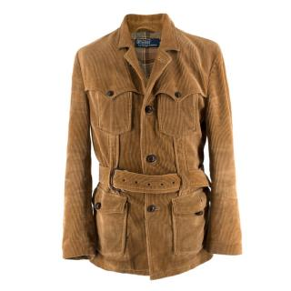 Polo by Ralph Lauren Tan Corduroy Belted Jacket