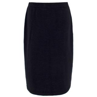 St John Collection Black Knitted Pencil Skirt