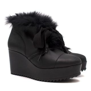 Pedro Garcia Cleated Sole Wedge Boots