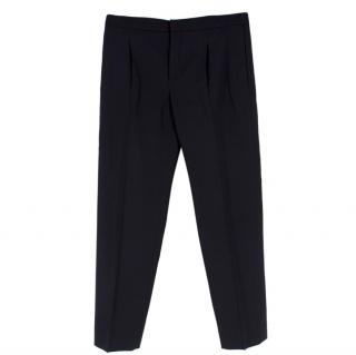 Chloe Black Wool Tapered Trousers