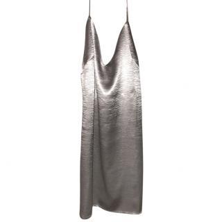 Givenchy SIlver Silk Slip Dress