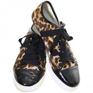 Lanvin Leopard Print Trainers