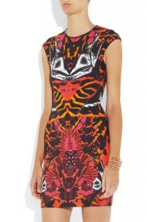 McQ Alexander McQueen Printed Stretch-Jersey Dress