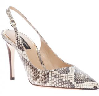 Dolce & Gabbana python sling back sandals