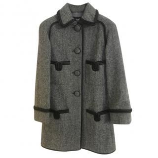 Chanel Herringbone Wool Coat