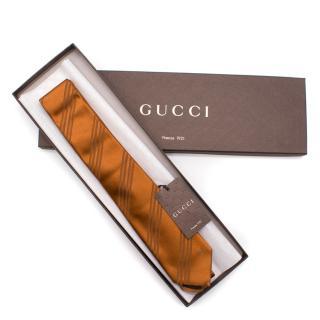 Gucci Sepia Brown Silk Tie