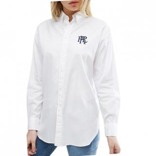 Polo Ralph Lauren White Boyfriend Fit Oxford Shirt