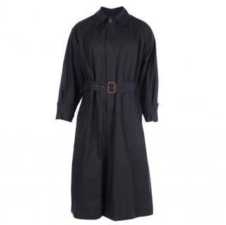Ralph Lauren Vintage Black Cotton Trench Coat