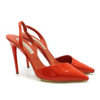 Stella McCartney Red Patent Slingback Sandals