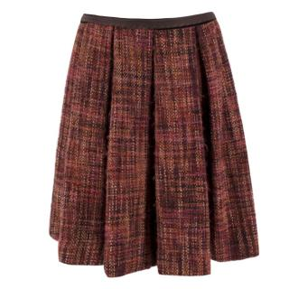 Prada Tweed Pleated Skirt