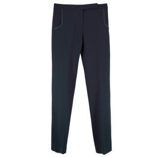 Amanda Wakeley Deep Green Straight Leg Trousers