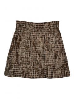 Vivienne Westwood Anglomania crocodile  A-line mini skirt