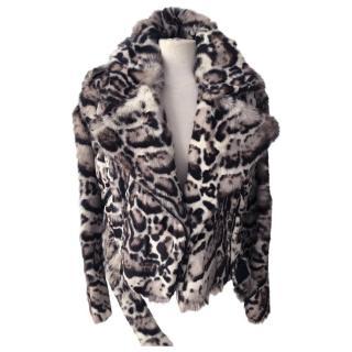 Christopher Kane Fur Leather Jacket
