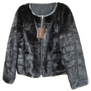 Mizuno Northern world black mink double face jacket