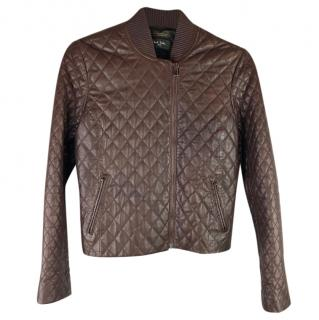 Paul Smith Diamond Quilted Leather Jacket