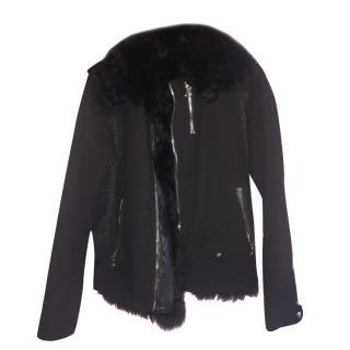 Lanvin Leather Fur Jacket
