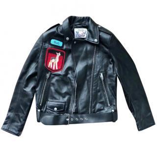 Miu Miu beaded leather jacket