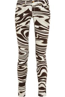 Michael Michael Kors brown zebra print stretchy skinny jeans