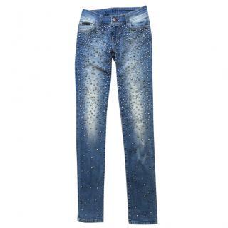 Philipp Plein Embellished Jeans