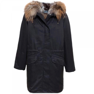 Yves Salomon Army Parka W/ Fox Fur Trim