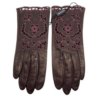 Dolce & Gabbana Nappa leather cut-out gloves
